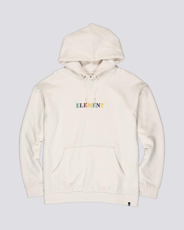 0 Rainbow Big Hoodie White M6861EBI Element