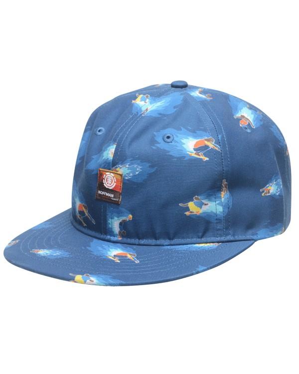 0 HOFFMAN 6 PANEL VINTAGE CAP Blue MAHTTEHC Element