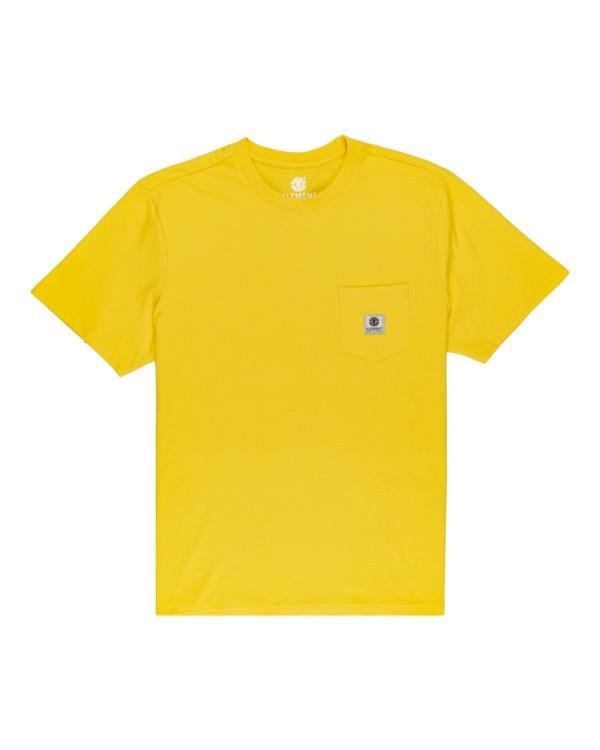 0 Basic Pocket Label - Maglietta a maniche corte Yellow N1SSG3ELP9 Element