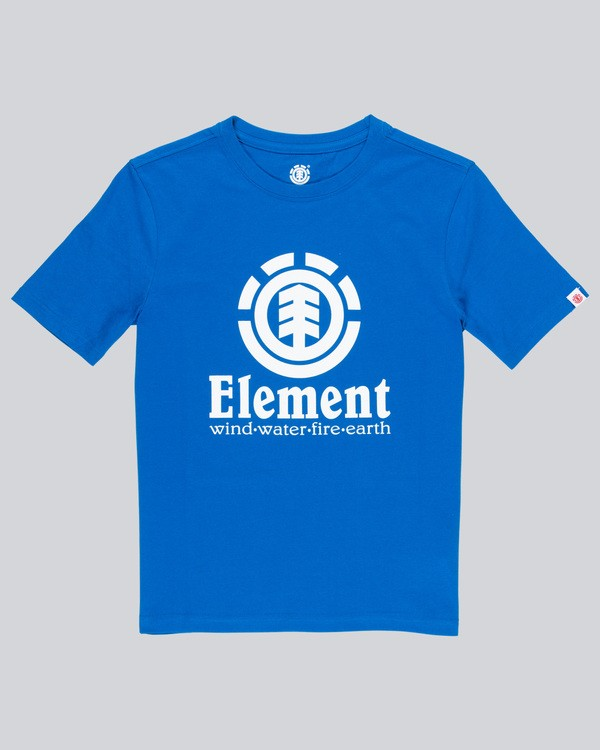 0 Vertical - Short Sleeve T-Shirt for Boys Blue N2SSC8ELP9 Element