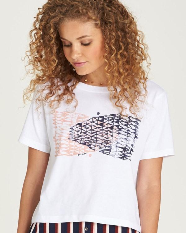 0 Net Crop Ss - Tee Shirt for Women White N3SSA4ELP9 Element