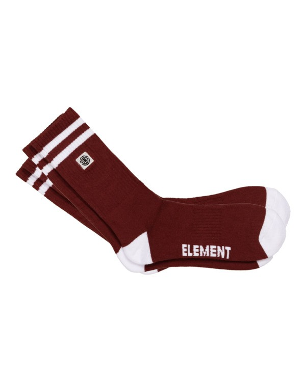 0 Clearsights - Chaussettes pour Homme Rouge N5SOA1ELP9 Element