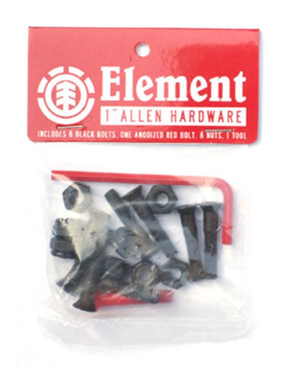 0 Allen Hdwr 1 Inch - Skate Accessories Black Q4AHA7ELF9 Element