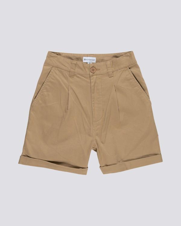0 Olsen - Highwaist Shorts für Damen Grau S3WKA5ELP0 Element