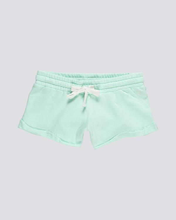 0 Dont Dare - Elastic Waist Shorts for Women Blue S3WKA7ELP0 Element