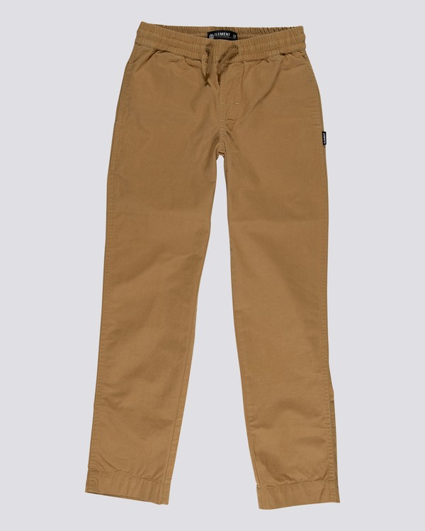 0 Chillin' - Pantaloni elasticizzati da Uomo Brown U1PTA7ELF0 Element