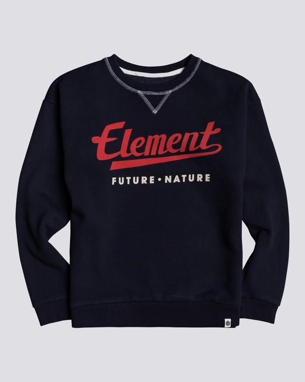0 Go Up - Organic Cotton Sweatshirt for Boys Blue U2CRA1ELF0 Element