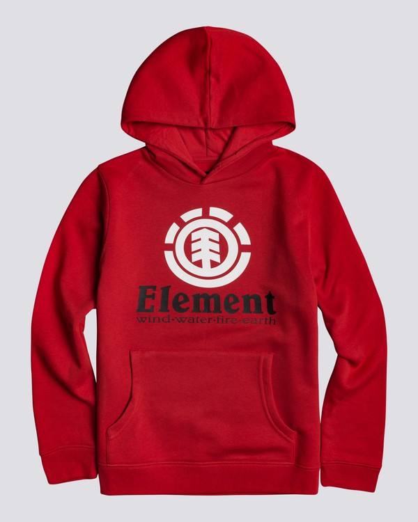 0 Vertical - Hoodie for Boys Red U2HOA6ELF0 Element