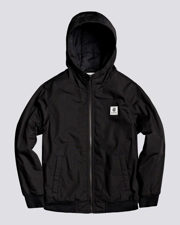 0 Wolfeboro Dulcey - Water-Resistant Jacket for Boys Black U2JKA1ELF0 Element