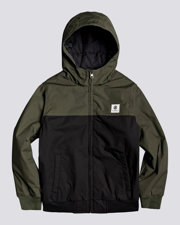 0 Wolfeboro Dulcey Two Tones - Water-Resistant Jacket for Boys Black U2JKA3ELF0 Element