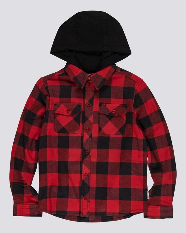 0 Tacoma 2C - Camisa con capucha para Chicos Rojo U2SHA1ELF0 Element