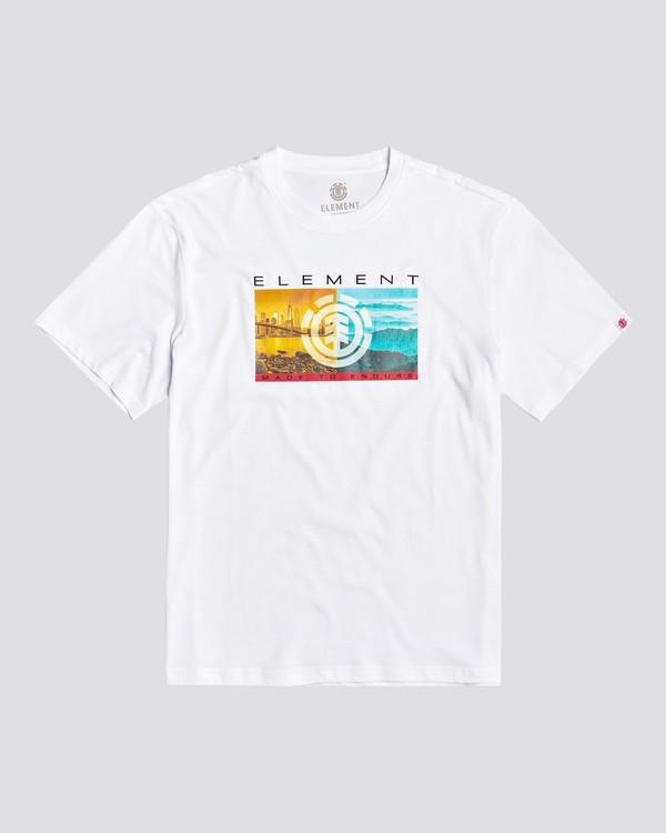 0 Sentinel - Maglietta da Ragazzo White U2SSA8ELF0 Element