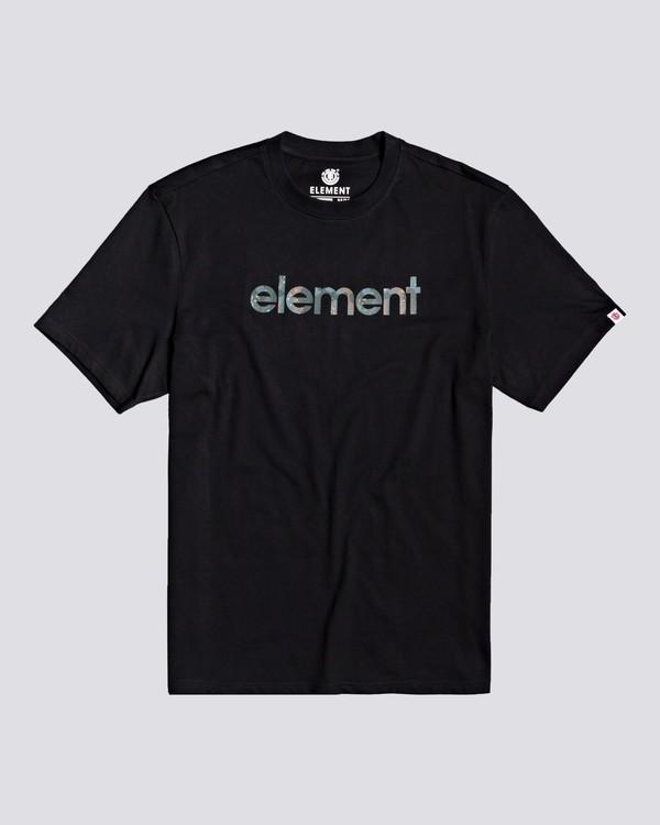 0 Water Camo Mark - Maglietta da Ragazzo Black U2SSB3ELF0 Element