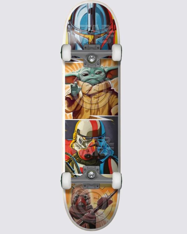 """0 Star Wars X Element 8"""" Mandalorian Quadrant - Skateboard Black U4CPD6ELF0 Element"""