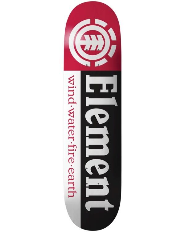 """0 Section 8.25"""" - Skateboard Deck Black U4DCA2ELPP Element"""