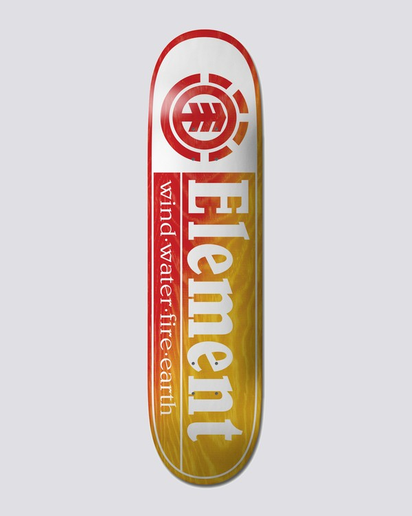 """0 8.25"""" Section Yellow Red - Skateboard Deck  U4DCE2ELF0 Element"""