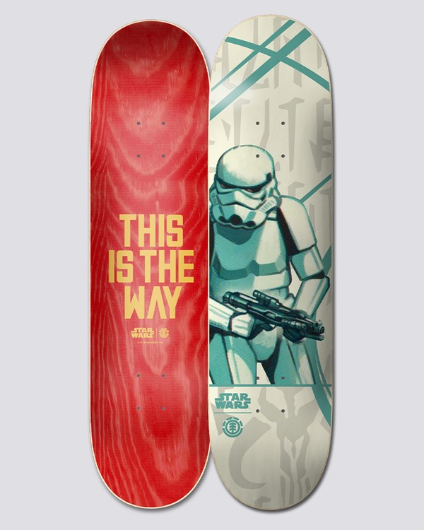 "0 Star Wars X Element 8.25"" Stormtrooper - Skateboard Deck  U4DCK7ELF0 Element"