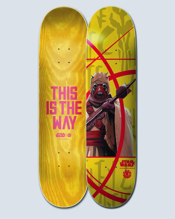 """0 Star Wars X Element 7.75"""" Tuskan Raider - Planche de skateboard pour Unisex Noir U4DCK8ELF0 Element"""