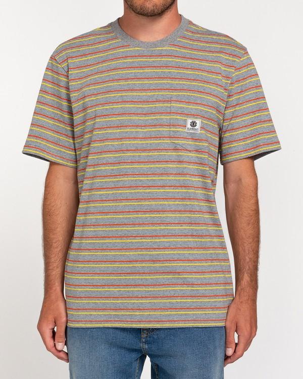 0 Basic Multi - Maglietta con tasca Gray W1SSH1ELP1 Element