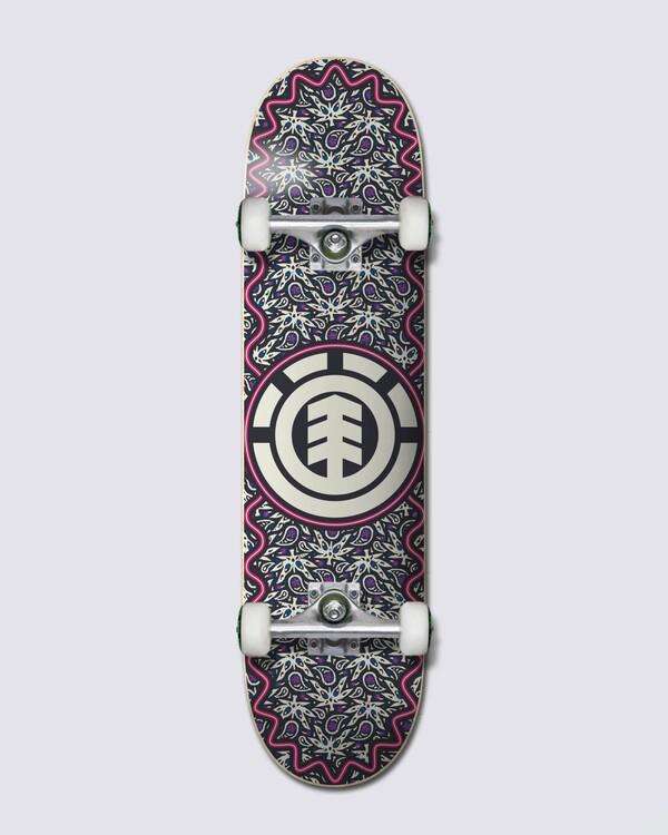 "0 7.75"" Paisley - Complete Skateboard Black W4CPA6ELP1 Element"