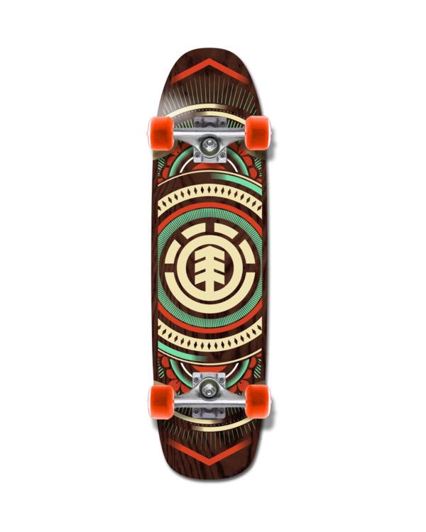 "0 8.75"" Hatched Cruiser - Skateboard pour Unisexe Noir W4CPB9ELP1 Element"