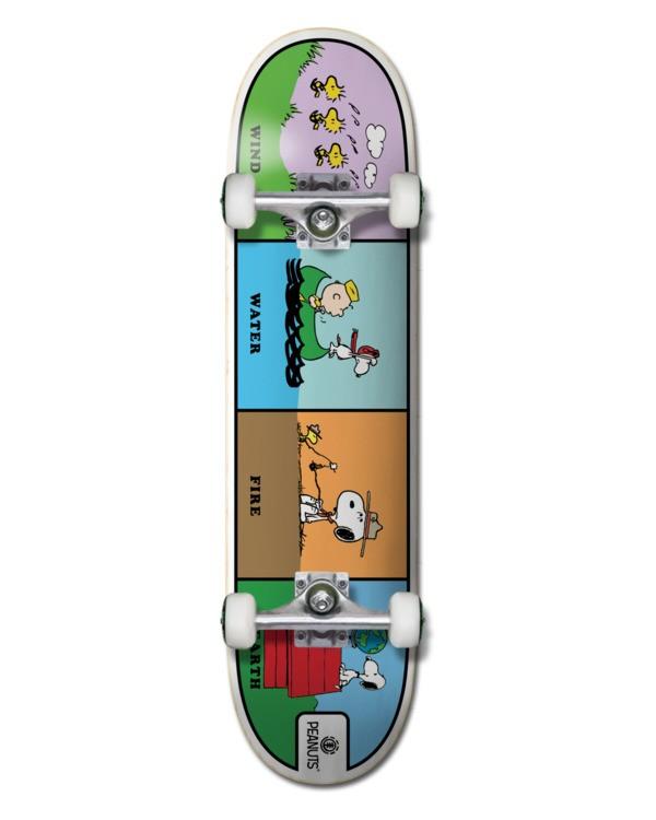 """0 8"""" Peanuts Wind Water Fire Earth - Skateboard pour Unisexe Noir W4CPC1ELP1 Element"""