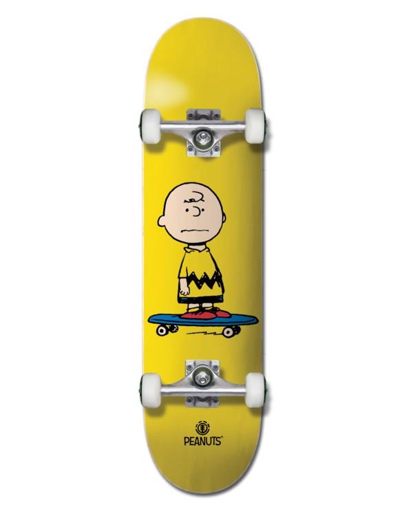 "0 7.75"" Peanuts Charlie - Skateboard Black W4CPC2ELP1 Element"