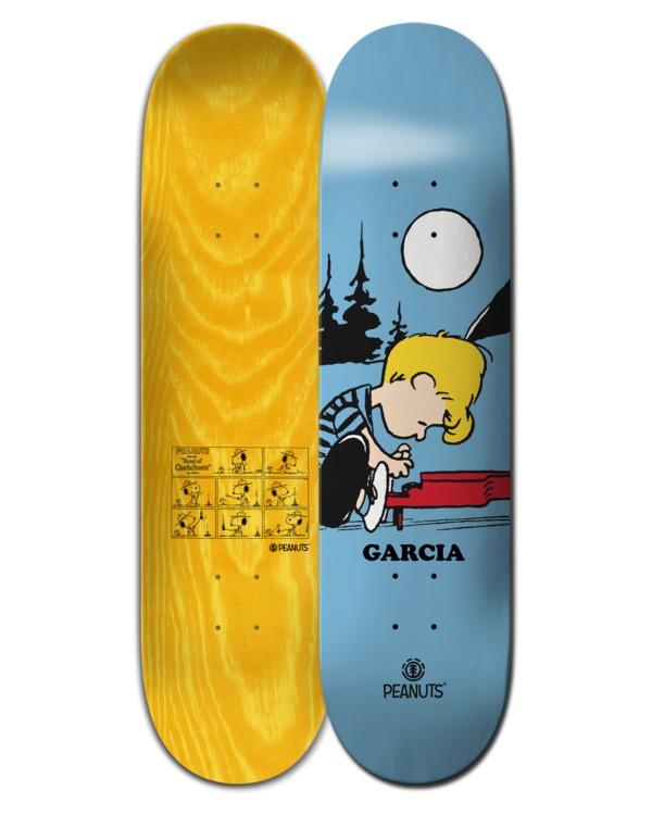 """0 8.25"""" Peanuts Schroeder x Nick Garcia - Skateboard Deck Black W4DCA3ELP1 Element"""