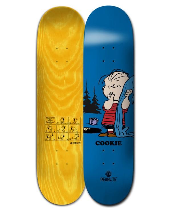 0 8.4 Peanuts Linus x Cookie - Skateboard Deck Black W4DCA6ELP1 Element