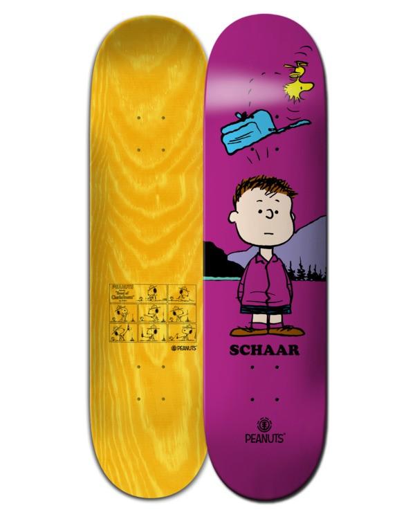 "0 8.38"" Peanuts Shermy x Schaar - Skateboard Deck Black W4DCB1ELP1 Element"