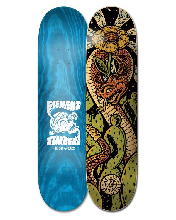 "0 8.5"" Timber High Dry Snake - Skateboard Deck Black W4DCB7ELP1 Element"