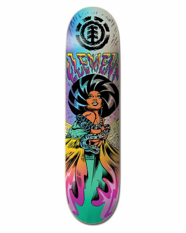 """0 8.5"""" Lamour Queen - Planche de skateboard pour Unisexe Noir W4DCC3ELP1 Element"""