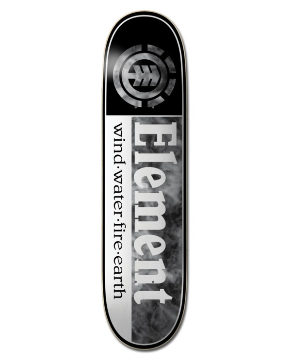 "0 8"" Smoked Dyed Section - Skateboard Deck Black W4DCD4ELP1 Element"