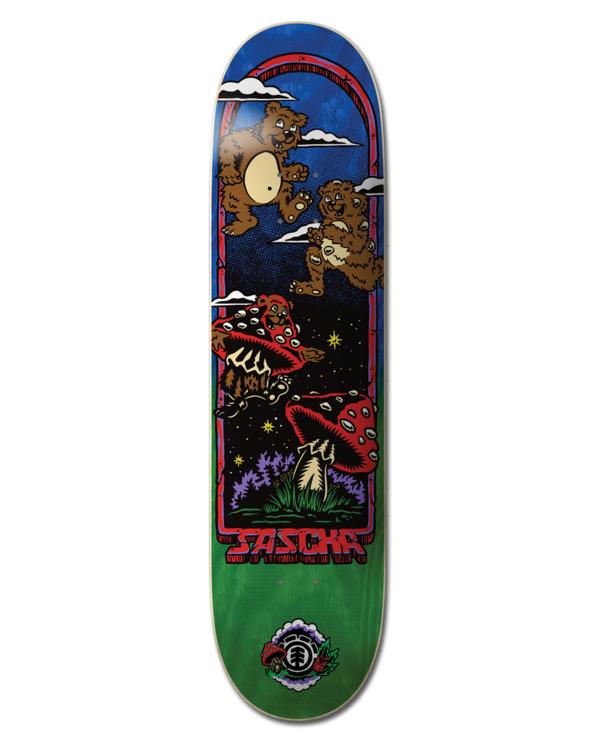 "0 8.5"" Fun Guy Sascha - Skateboard Deck Black W4DCD7ELP1 Element"