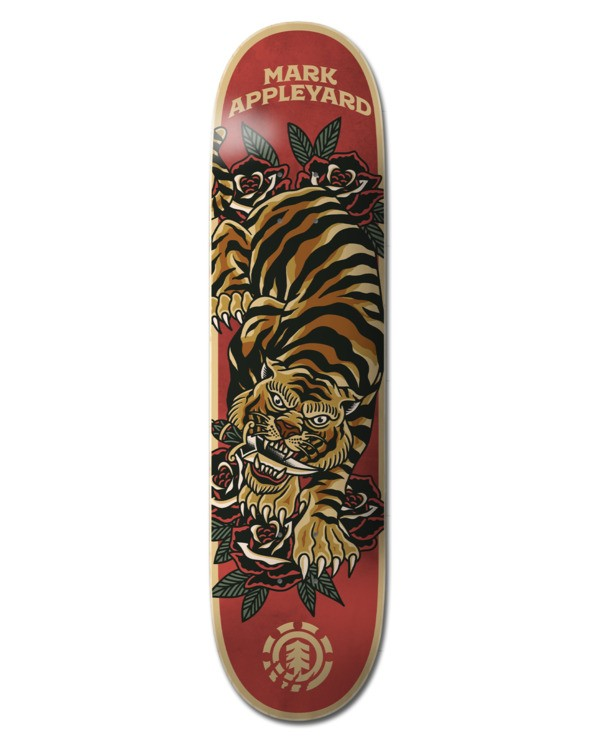 "0 8.5"" Natural Defense Appleyard - Skateboard Deck Black W4DCE6ELP1 Element"