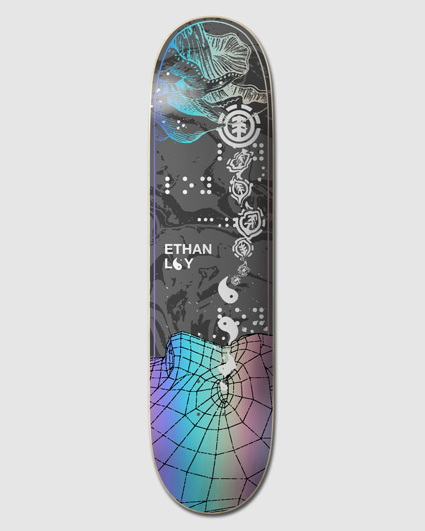 "0 LOW POLY ETHAN 8.5"" SKATEBOARD DECK Multicolor W4DCK3 Element"