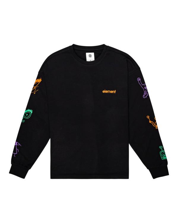 0 Galaxy - Long Sleeve T-Shirt for Unisex Black Z1KTC2ELF1 Element