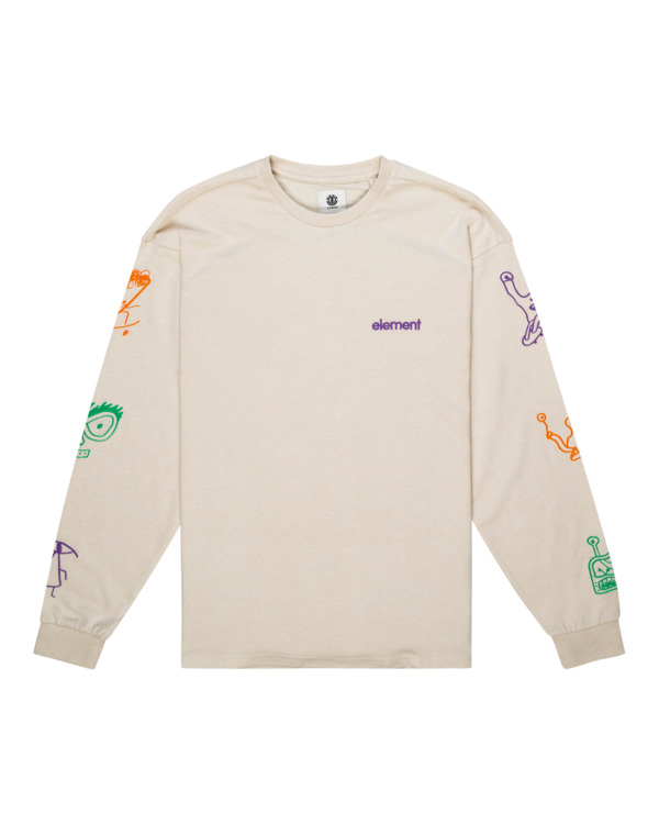 0 Galaxy - Camiseta de Manga Larga para Unisex Amarillo Z1KTC2ELF1 Element