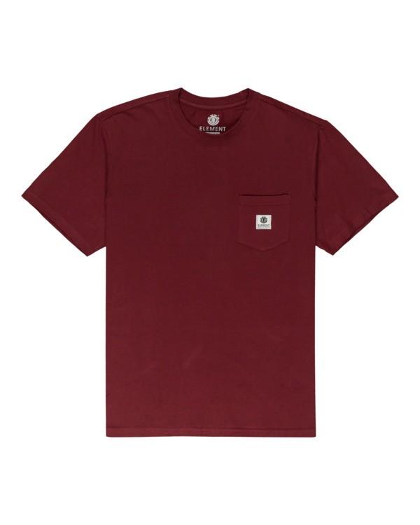 0 Basic Label - T-shirt pour Unisexe Rouge Z1SSI1ELF1 Element