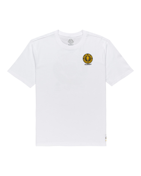 0 Cracks - T-shirt pour Homme Blanc Z1SSP1ELF1 Element