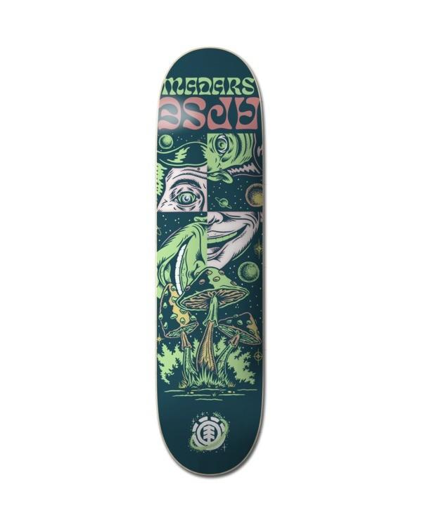 """0 8.5"""" Space Case Madars - Deck de skateboard pour Unisexe Noir Z4DCA6ELF1 Element"""