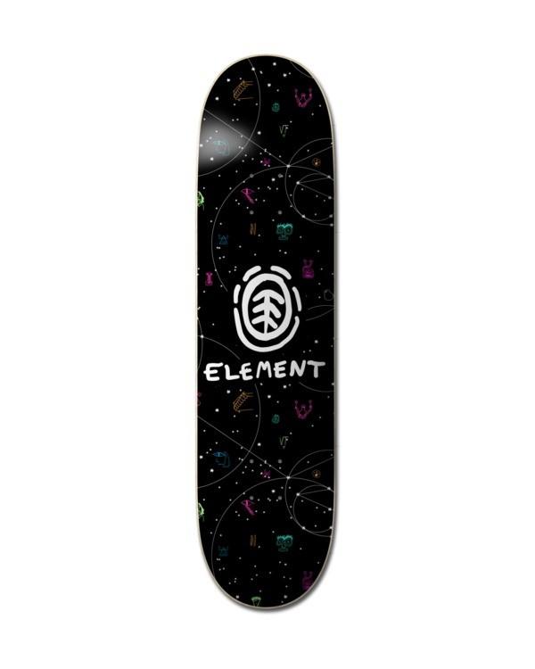 """0 8"""" Galaxy - Deck de skateboard pour Unisexe Noir Z4DCB9ELF1 Element"""