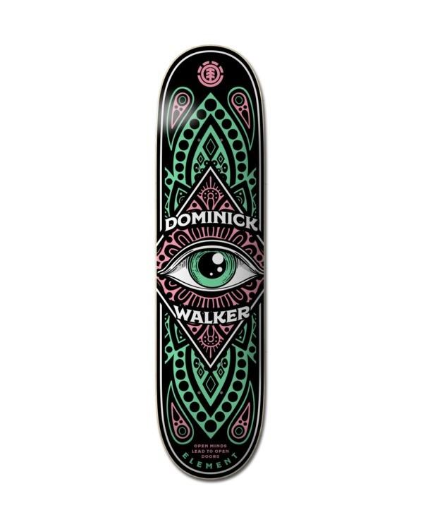 "0 8.25"" Third Eye Domo - Skateboard Deck Black Z4DCC1ELF1 Element"