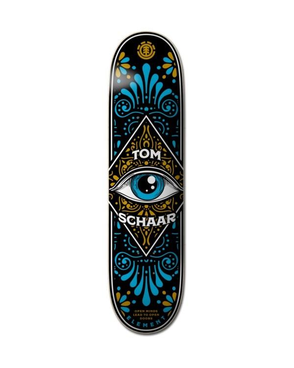 """0 8.5"""" Third Eye Schaar - Deck de skateboard pour Unisexe Noir Z4DCC2ELF1 Element"""