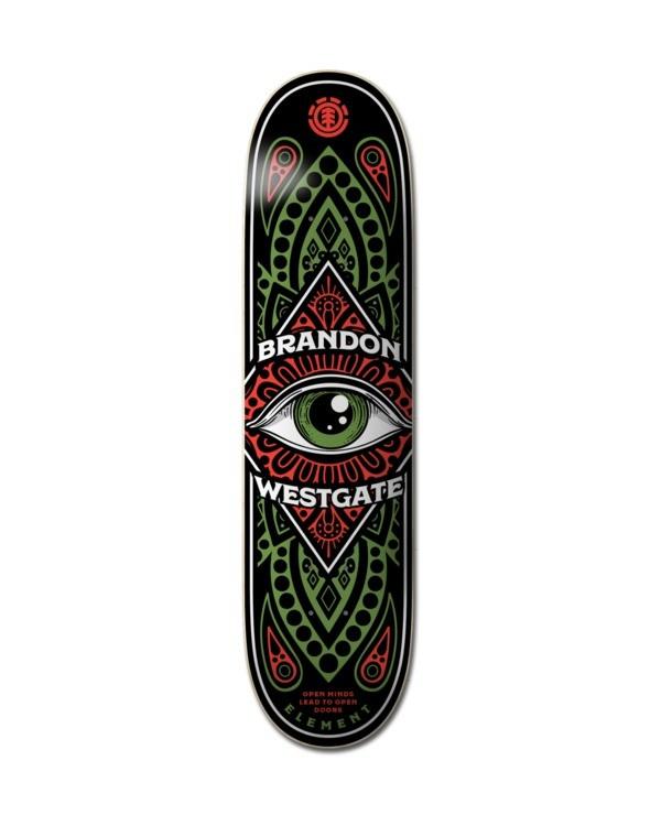 """0 8"""" Third Eye Westgate - Deck de skateboard pour Unisexe Noir Z4DCC3ELF1 Element"""