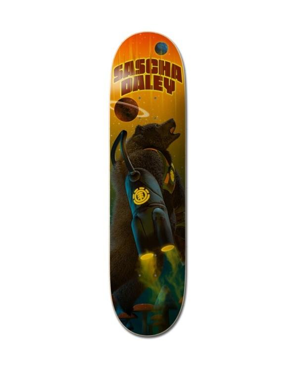 """0 8.25"""" Future Nature Sascha - Deck de skateboard pour Unisexe Noir Z4DCC9ELF1 Element"""