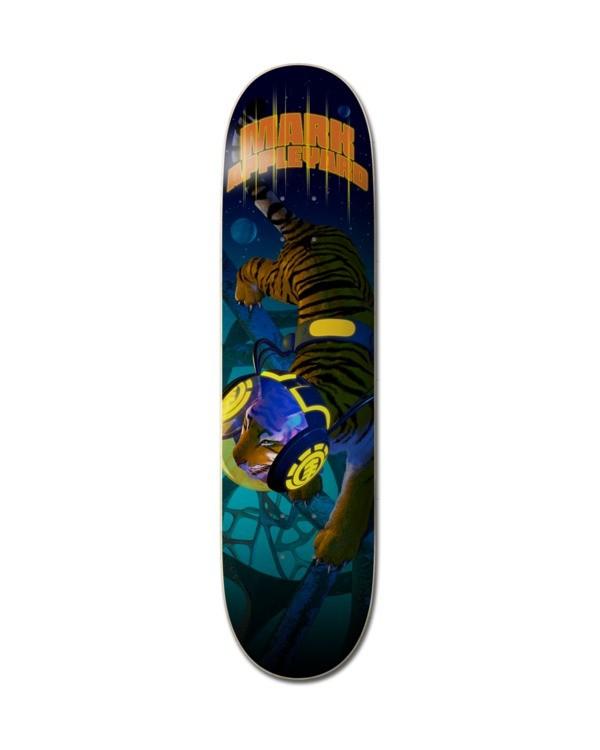 "0 8.25"" Future Nature Appleyard - Skateboard Deck Black Z4DCD1ELF1 Element"