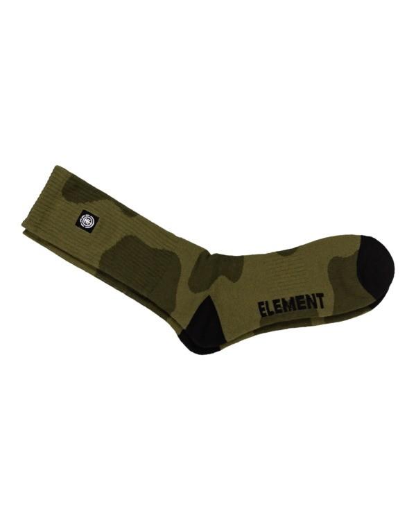 0 Rampage - Chaussettes de skate pour Homme Vert Z5SOA3ELF1 Element