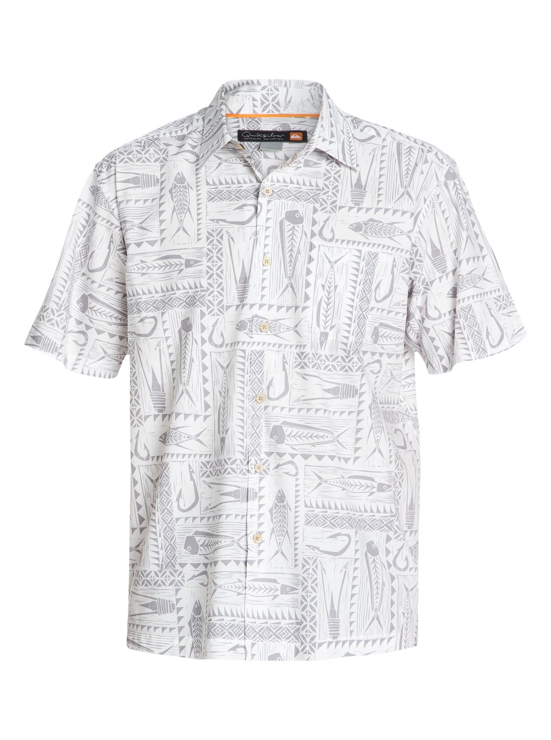 ba14fae7 0 Men's Clifton Beach Short Sleeve Shirt AQMWT03050 Quiksilver