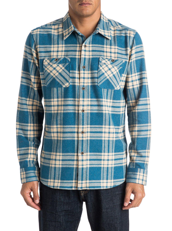 145daec3e8 0 Hombres Camisa de Franela Manga Larga Worthy Vessel Azul AQMWT03247  Quiksilver